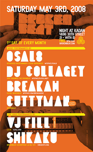 Flyer for BrokenBeat